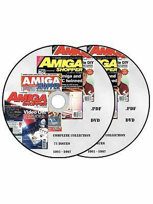 AMIGA SHOPPER magazine collection ALL 71 ISSUES! PDF format on 2 x DVD commodore