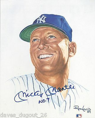 MICKEY MANTLE 8 x 10 Living Legends print by Ron Lewis - SIGNED - Authentic