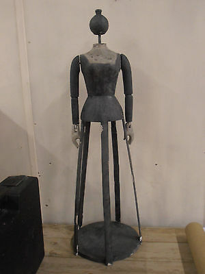 Antique 1930 cage doll mannequin wood articulated French Paris shop curiosity