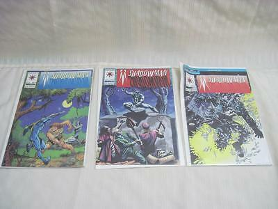 Lot of 3 Shadowman 4 6 7 Valiant  Excellent condition