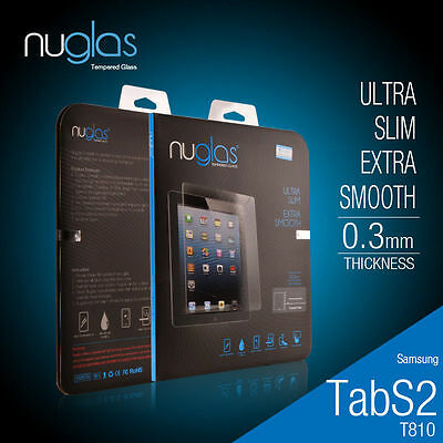 Genuine Nuglas Tempered Glass Screen Protector for Samsung Galaxy S2 T715 /T815