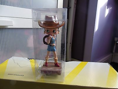 """NEW BOXED """"No.8"""" COWGIRL Betty Boop collectible figurine ornament statue doll"""