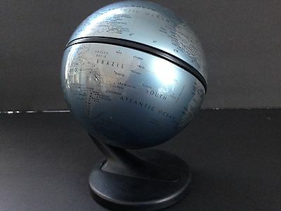 Replogle Globe 2001 Gyroscoping  Small Sz to fit on your desk! In a Gray Blue