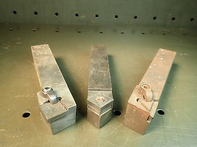 "3 Pc Indexable Carbide Lathe Turning Tool Holders: Left Right Straight, 1"" Shank"