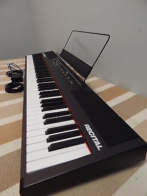 Alesis Recital 88 Key Digital Piano Package w/stand w/pedal w/cable output