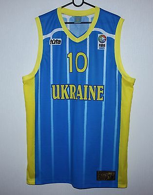 Ukraine basketball National Team match worn shirt #10 Prokopenko EuroBasket U-20
