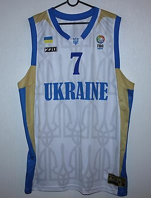 Ukraine basketball National Team match worn shirt Shundel EuroBasket 2012 U-20