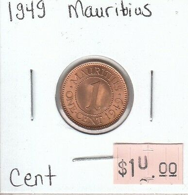 Mauritius Cents 1949 Circulated