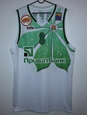 BC Budivelnyk Ukraine basketball match worn shirt #8 Nerush Size 56