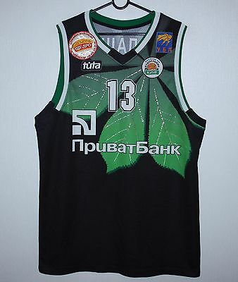 BC Budivelnyk Ukraine basketball match worn shirt #13 Balashov Size 188
