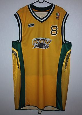 Rare BC Kyiv Ukraine basketball match worn shirt #8 Gordon EuroCup 2005
