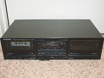 Kenwood KX-79CW Dual Auto-Rev. Cassette Tape Player Recorder Deck, Vintage Japan
