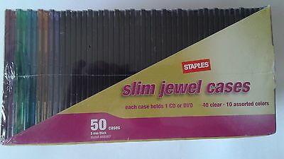 Staples Slim Jewel Cases, 50 Cases