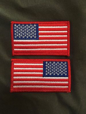 Red Border American Flag Patch