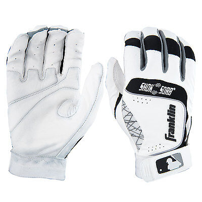 Franklin Shok-Sorb Neo Adult Baseball Batting Gloves - White/Black - XL