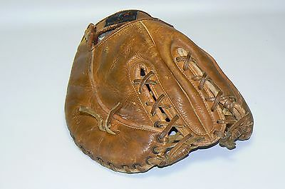 Vintage First Base Olympion Genuine Cowhide Leather Mitt Glove Made in Japan LHT