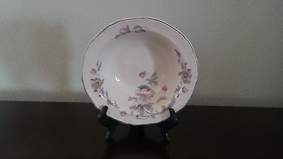 Edwin Knowles China Round Serving Bowl  Mayglow Alice Ann Platinum Trim