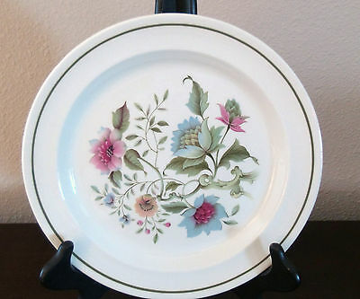 Ridgway Ironstone England Spring Song Dinner Plates x1 Green Band Blue Floral