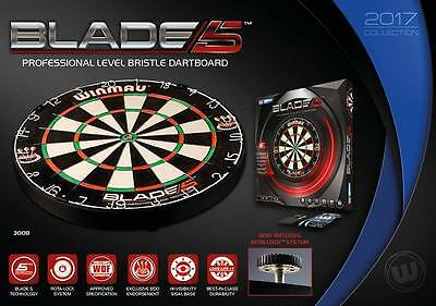 Winmau Blade 5 Proffesional Dartboard With Rota-Clock and Xtreme Board Stand ll