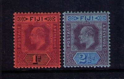 FIJI STAMP SC# 60;62 KEVII Wmk Crown MH OG