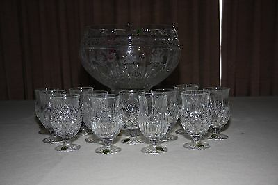 Waterford - 12 Days of Christmas Collection - Punch Bowl and Glasses