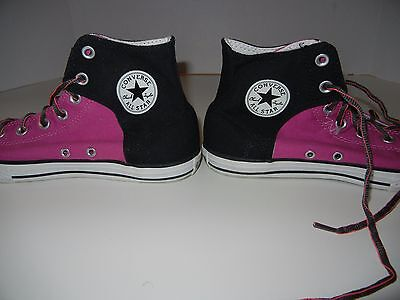 CONVERSE ALL STAR CHUCK TAYLOR HIGH TOP Size 6 Womens  Black Pink