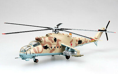 """Easy Model 1/72 Mi-24 """"White 03"""" Russian Air Force Helicopter Model #37035"""