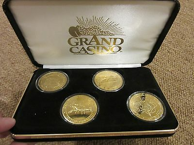 Grand Casino Limited Edition Collector Coins Gold Colored with box