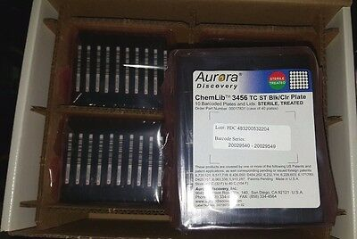 Case Of Aurora 3456 Blk/Clr Multi Well Microplates & Lids Sterile Treated 40 Tot