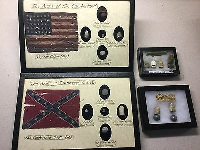 Civil War Collection Flags And Other Items