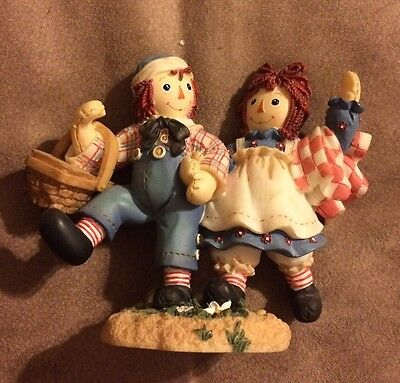 "Raggedy Ann And Any Figurine ""How Happy To Have A Happy, Sunny Friend"" Simon & A"