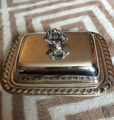 Vintage Silverplate Box/ Covered Dish Jewelry Accessory