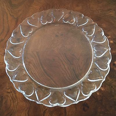 Tiffany & Co. Crystal Hearts Platter, Made in Germany, Excellent Condition
