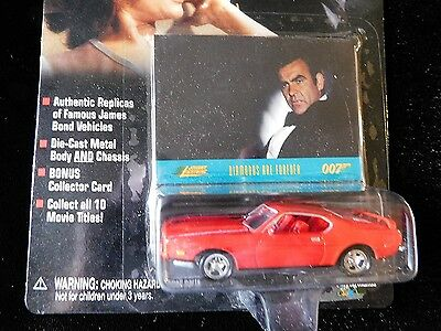 James Bond Diamonds Are Forever 1973 Ford Mustang (red) James Bond Collector Car