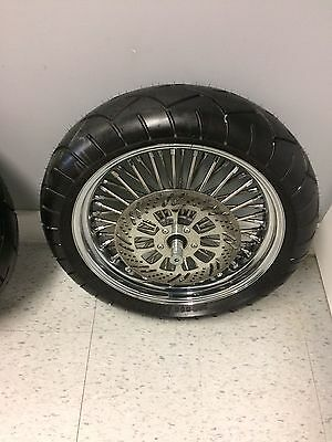 "Ultima King Spoke Rim with Metzeler Marathon 180/55x18"" Tire (Front)"