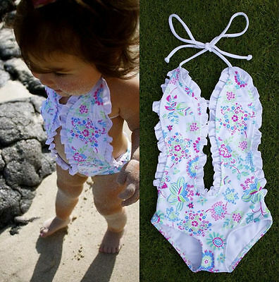 Newborn Baby Girl Floral swimwear swimsuit one-piece Romper Bodysuit Jumpsuit