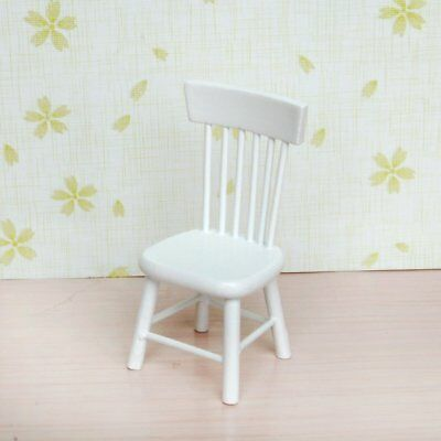 5pcs 1/12 Wooden Kitchen Dining Table Chair Set  for Dollhouse Furniture White