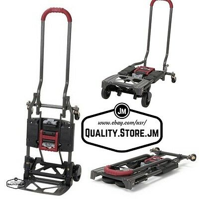 Hand Trucks And Dollies Convertible Truck Platform Dolly Cart Folding Trolley
