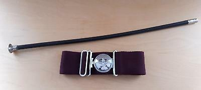 OFFICER'S PARACHUTE REGIMENT STABLE BELT & SWAGGER STICK AMMO & Co CIRCA 1970s