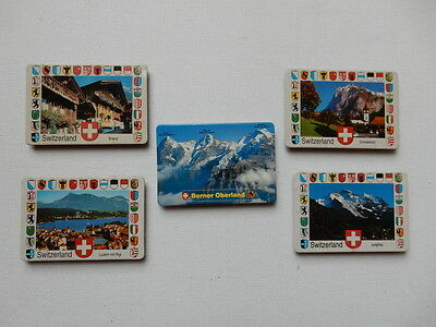 One Selected Metalic Souvenir Fridge Magnet from Switzerland