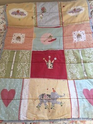 Sweet Ikea Cot Quilt Mouse And Elephant