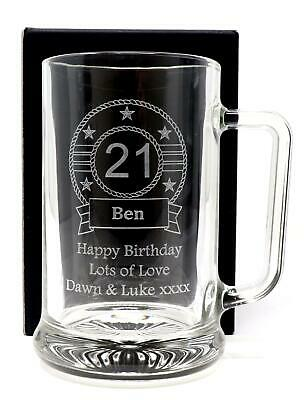Personalised BIRTHDAY Pint Glass TANKARD Gift For Men/40th/50th/60th/65th