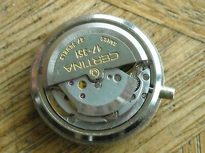 CERTINA Automatic movement  Cal. 17-351 for parts.