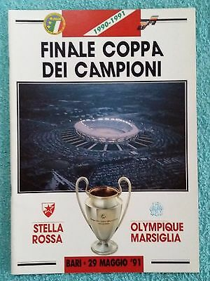 1991 - EUROPEAN CUP FINAL PROGRAMME - RED STAR v MARSEILLE - GREAT CONDITION