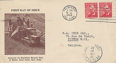 H 225 Winslow / Bodin 1948 First Day CARD;  Farrer July 1948