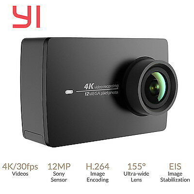 YI II International Version WiFi 4K Sports Action Camera Black