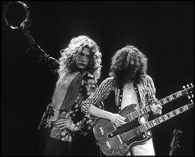 Led Zeppelin Repro Photo Print - Jimmy Page & Robert Plant