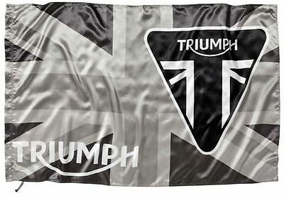 GENUINE TRIUMPH MERCHANDISE UNION JACK FLAG TRIUMPH BADGE DESIGN in BLACK/WHITE