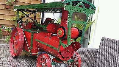 Meccano Red & Green showmansTraction Engine from No10 outfit model 15