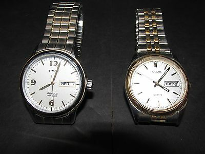 Mens wrist watches, Timex and Pulsar Lot of 2